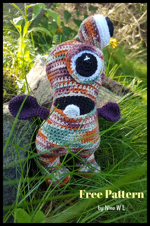 Eyeball the Monster Free Crochet Pattern