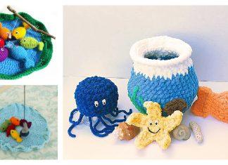 Fishing Play Set Free Crochet Pattern