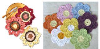 Flower Dishcloth Free Crochet Pattern