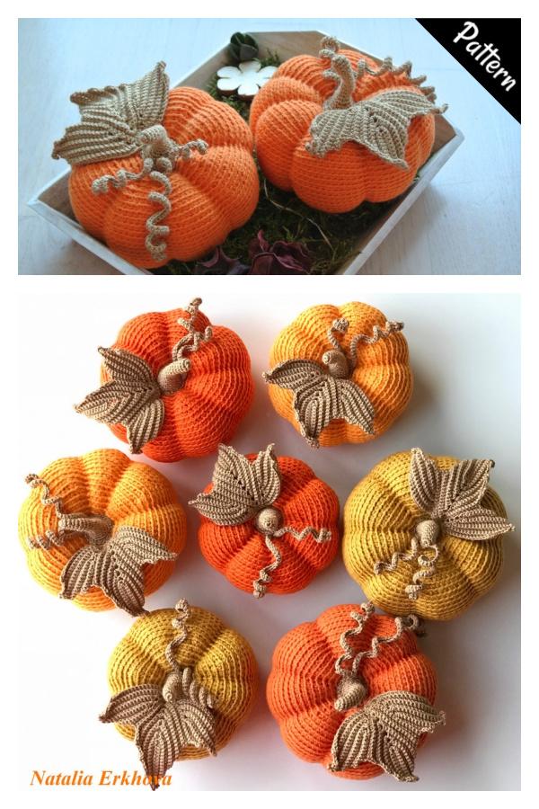 Padrão de Crochê de Abóbora de Halloween