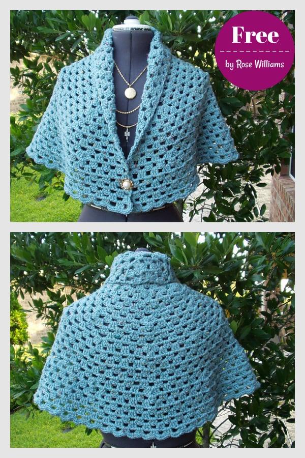 My Friend Enola Shawl Free Crochet Pattern