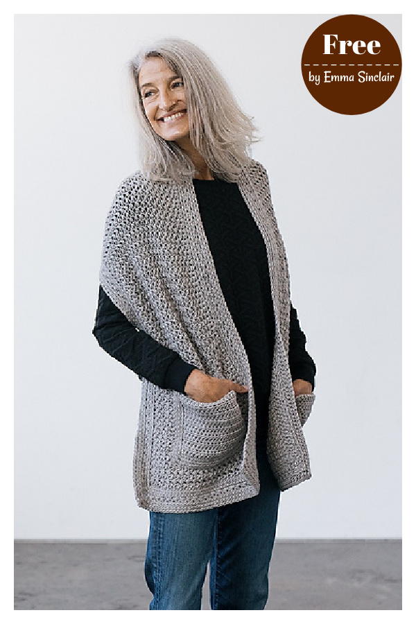 Parlor Pocket Shawl Free Crochet Pattern
