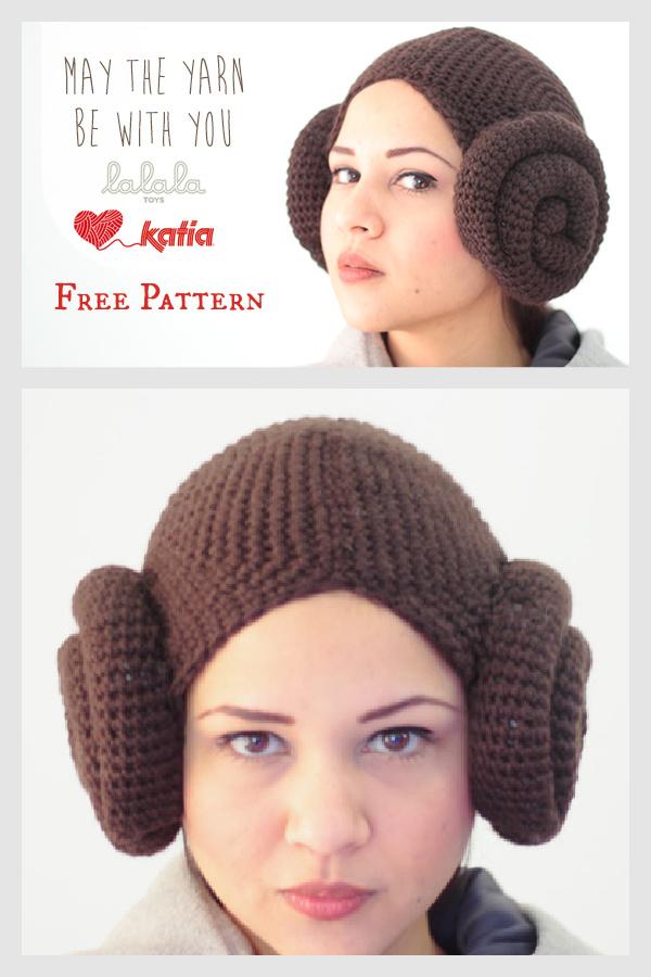 Princess Leia Beanie Free Crochet Pattern