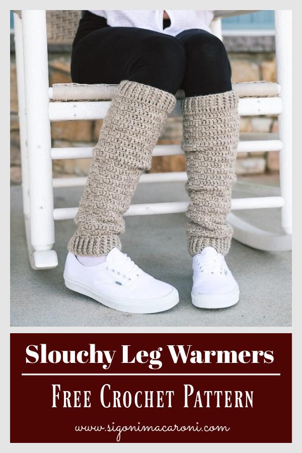 Slouchy Leg Warmers Free Crochet Pattern