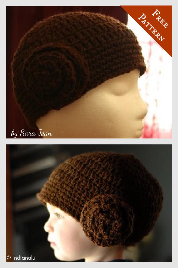 Star Wars Princess Leia Hat Free Crochet Pattern